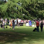 Crowds gather at Dodworth Garden Party