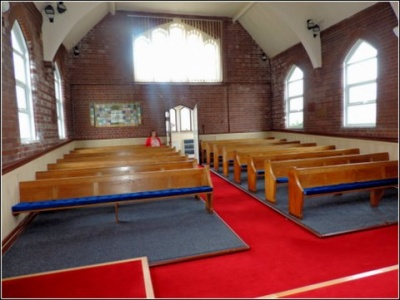 Higham The New Look - into the church from the front-