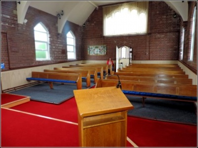 Higham The New Look - into the church from the front