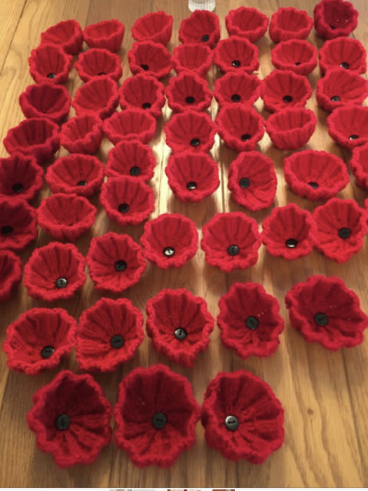 Kexborough knitted poppies