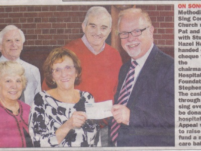 On Song - Higham donation to Barnsley NHS Foundation Trust