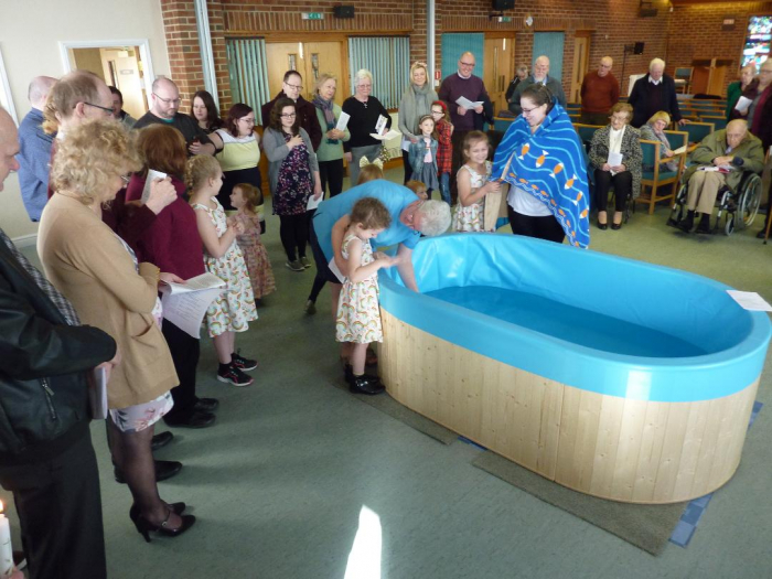 Staincross Baptism before Lock down